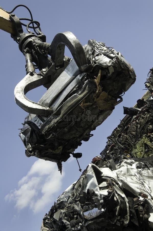 утиль поднятый автомобилем стоковое изображение