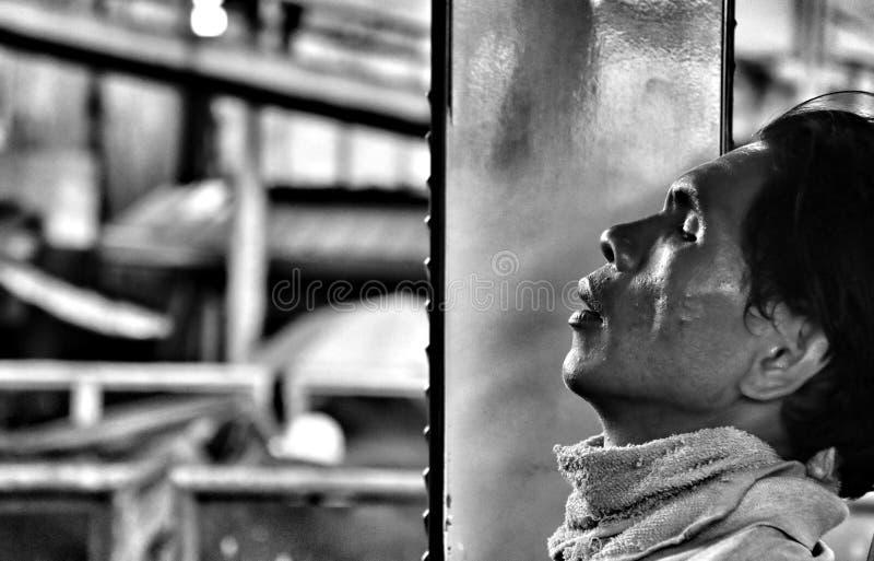 утомленная работа стоковая фотография rf