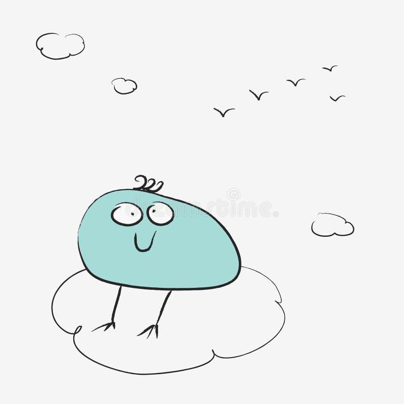 утомлянная птица бесплатная иллюстрация