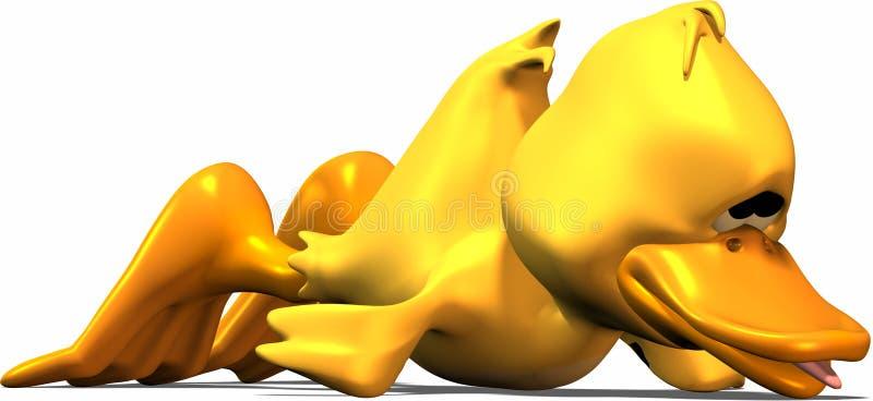 утомлянная утка иллюстрация штока