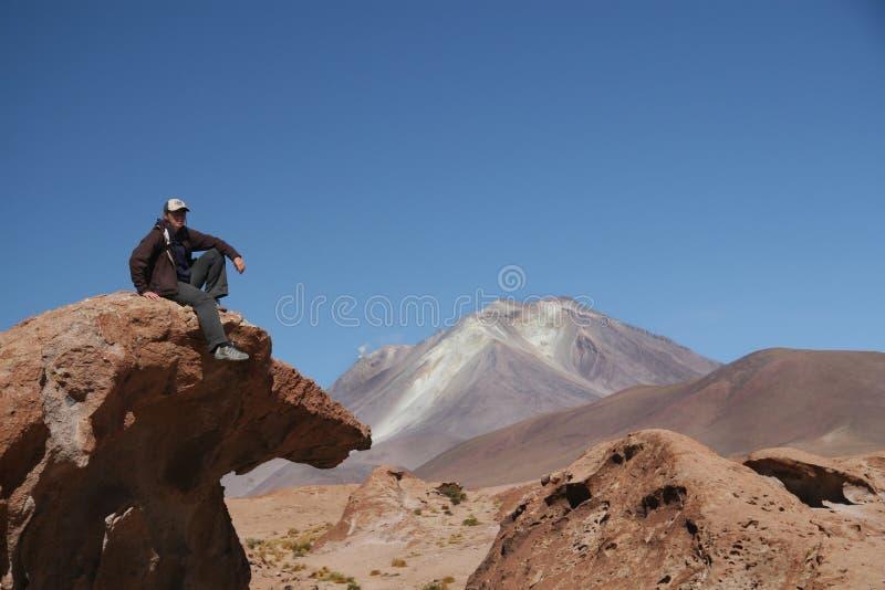 утомлянное hikker стоковые фото