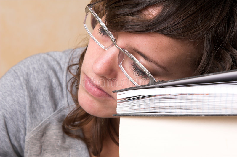 утомлянный студент стоковое фото