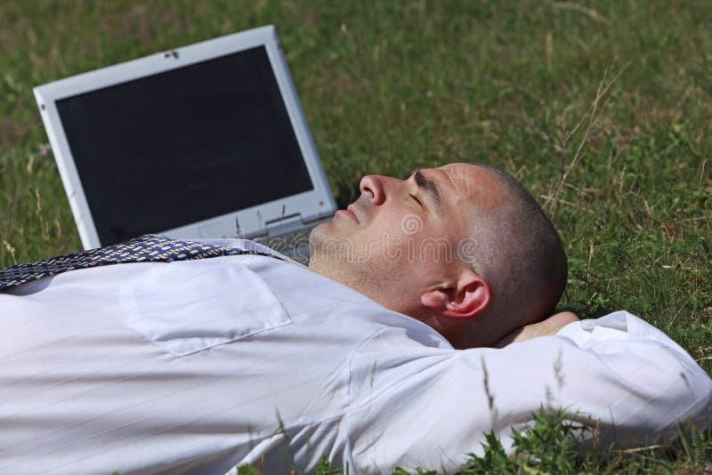 утомлянный человек стоковая фотография