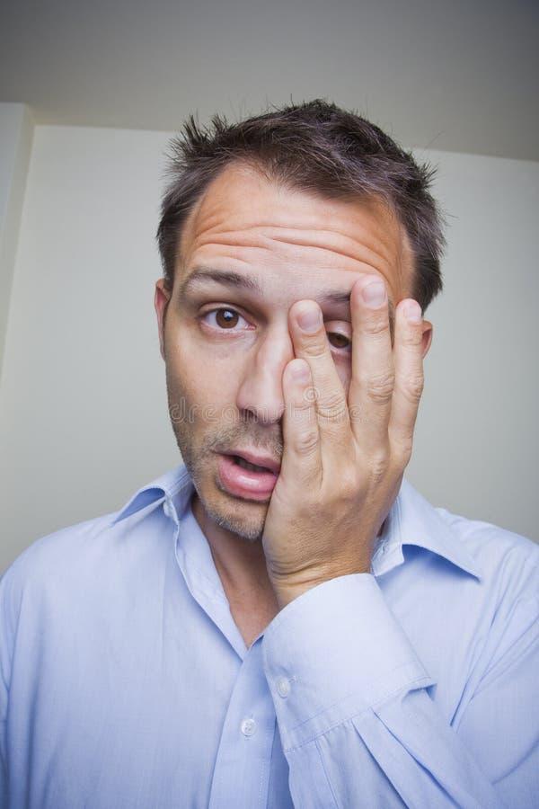 утомлянный человек стоковое изображение rf