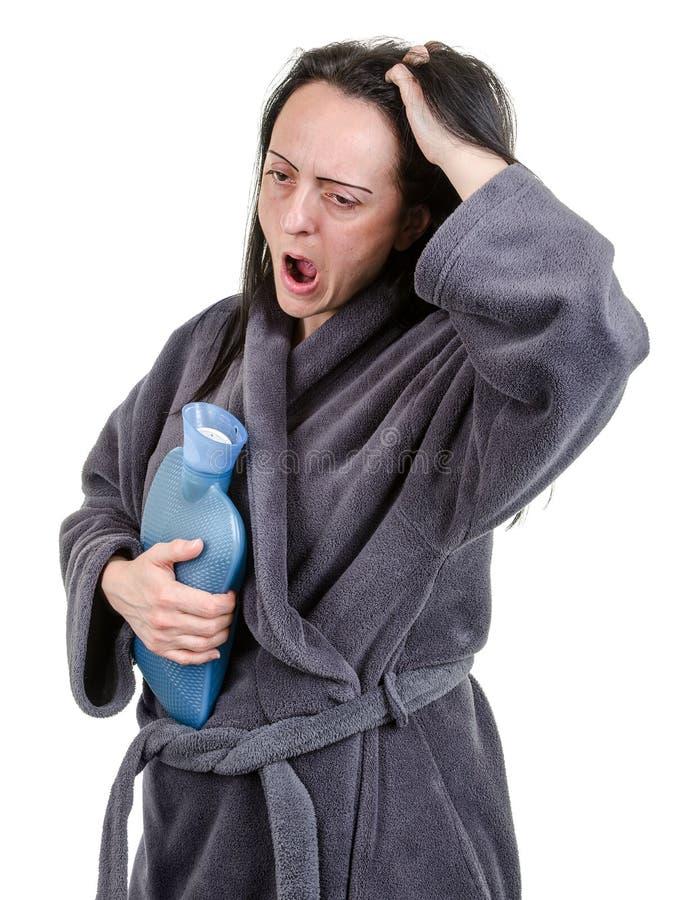 Утомленная женщина зевая стоковые изображения rf