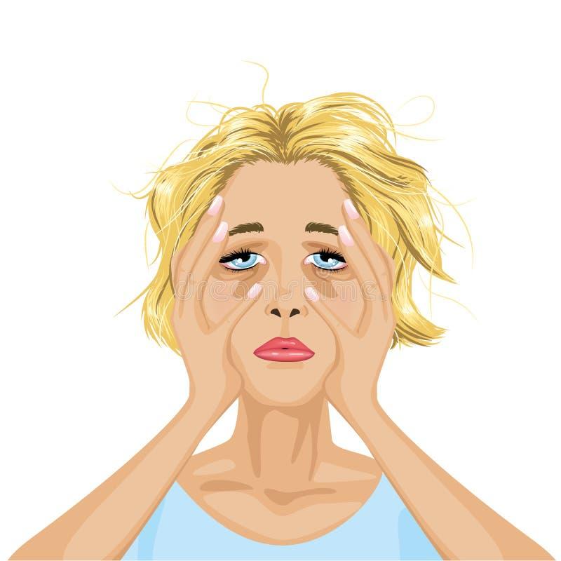 Утомленная женщина бесплатная иллюстрация