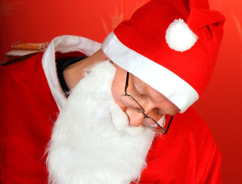 Утомленное Дед Мороз стоковая фотография rf