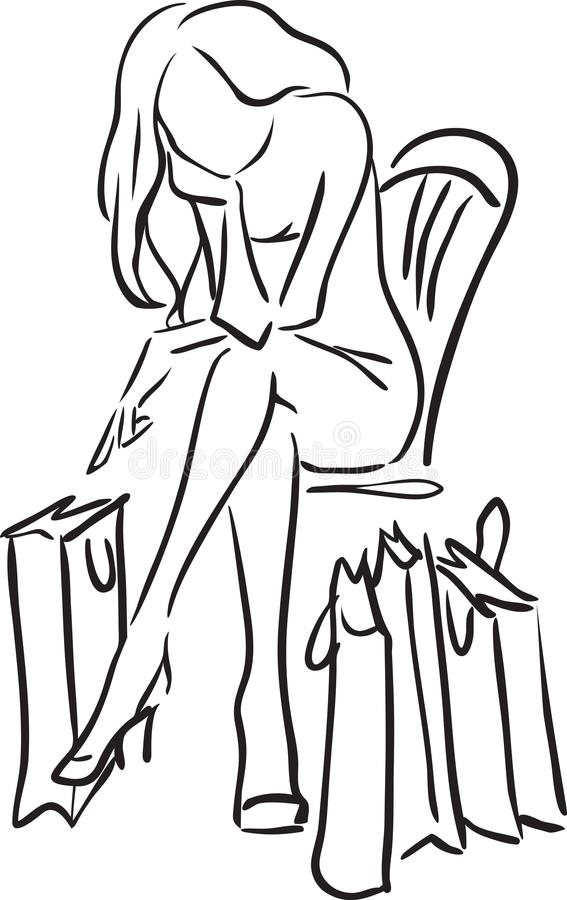 Утомлянная женщина бесплатная иллюстрация