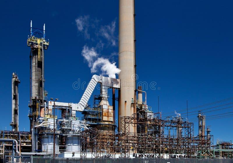 Уточненный трубопровод дымовой трубы нефтехимического завода нефти стоковые фотографии rf