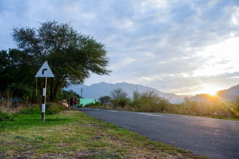 Утреннее время около Pinjore стоковое фото