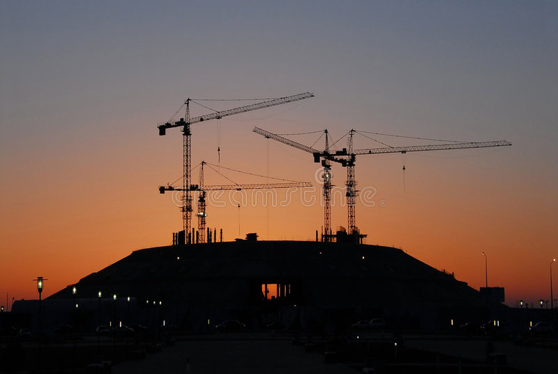 утро здания astana новое стоковая фотография rf