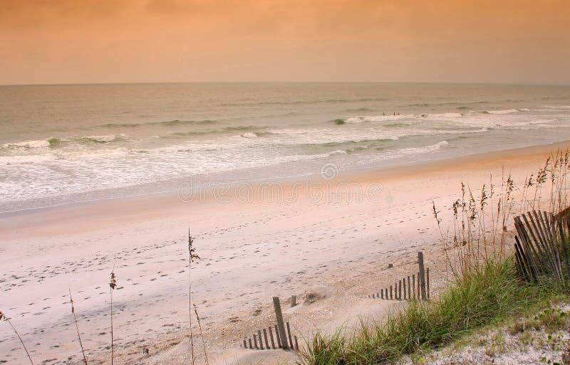 утро Каролины пляжа северное стоковое фото
