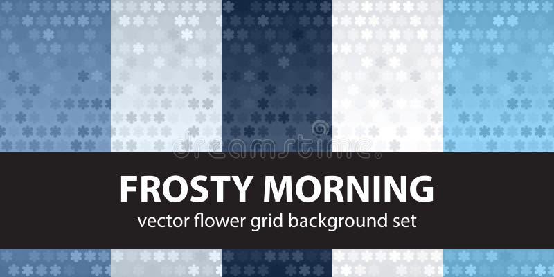 Утро картины цветка установленное морозное вектор предпосылок безшовный бесплатная иллюстрация