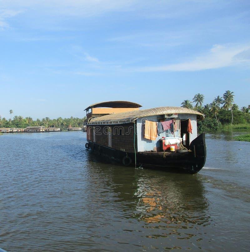 Утро Кералы Индии шлюпки стоковое фото rf