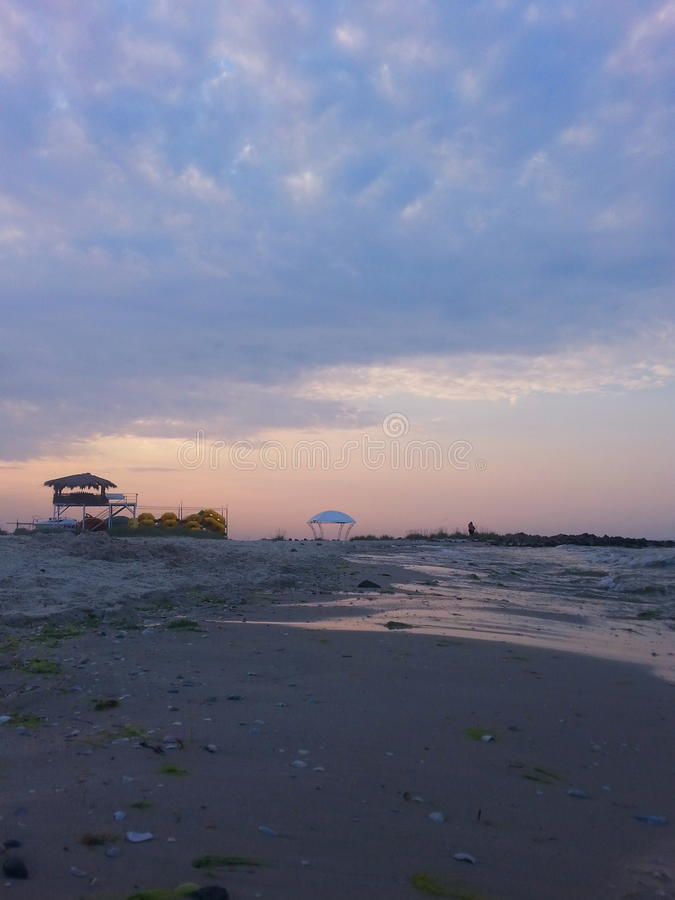 Утро на море стоковая фотография rf