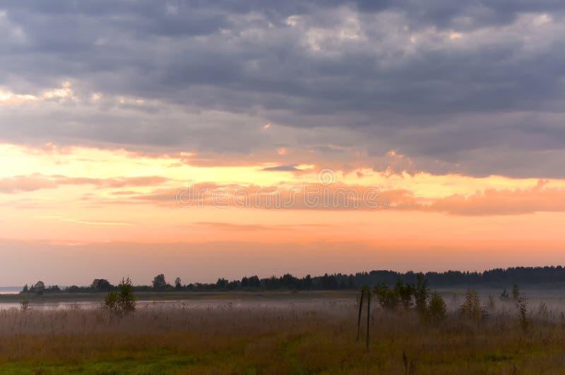 Утро на озере Piros стоковое фото