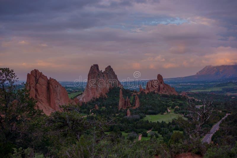 Утро на саде богов, Колорадо стоковые фотографии rf