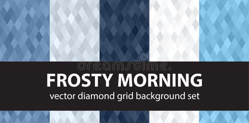 Утро ромбовидного узора установленное морозное стоковые изображения