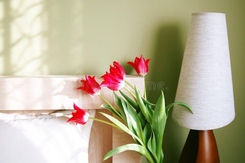 утро спальни светлое стоковые изображения