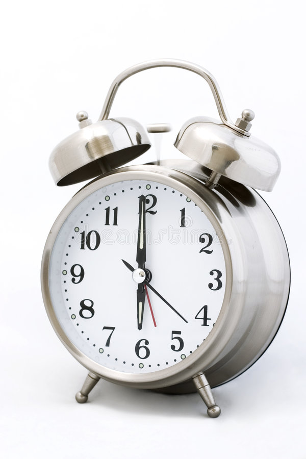 утро часов сигнала опасности стоковое фото rf