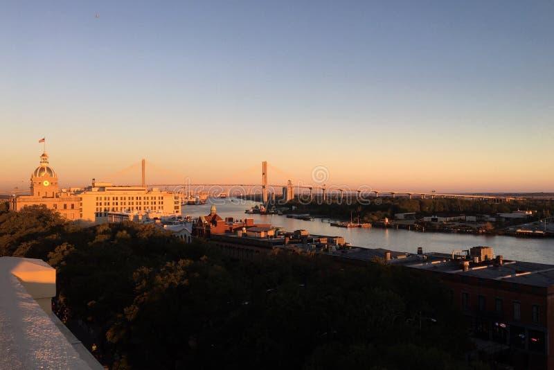 Утро Georgia стоковое фото rf