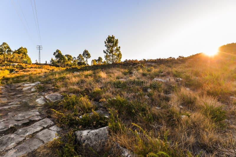 Утро - Rande - Галиция восхода солнца стоковое изображение rf