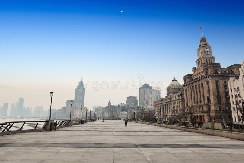 утро shanghai bund стоковая фотография