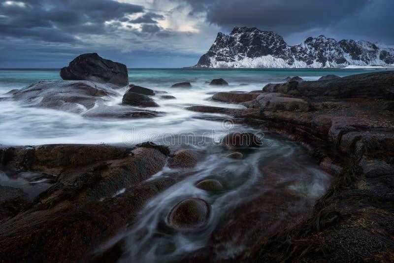 Уттакливский каменистый берег стоковое фото