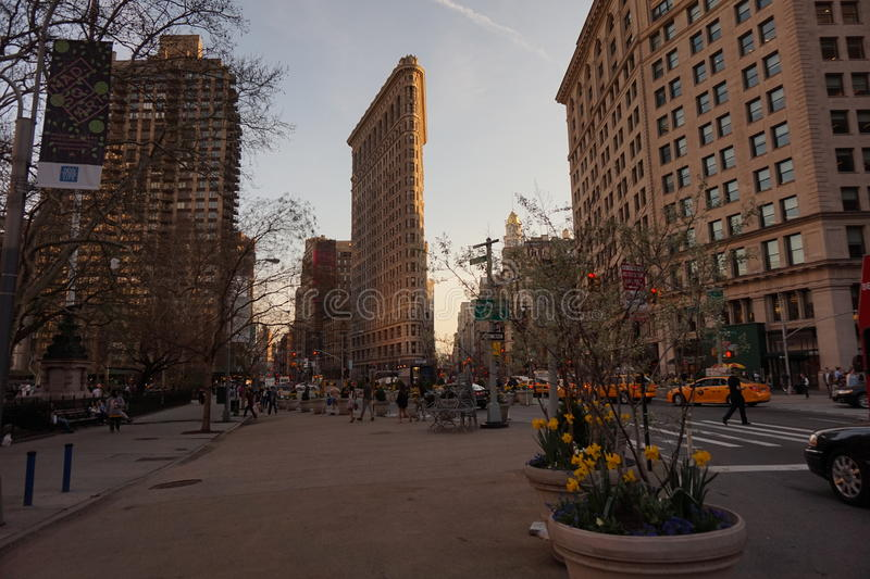 утюг New York города здания плоский стоковое изображение