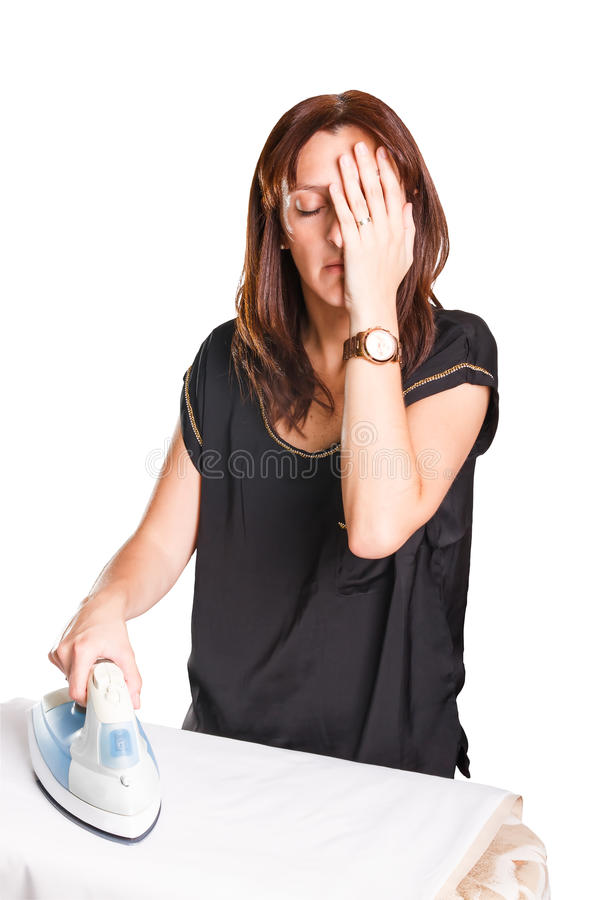 Утюжа женщина стоковое фото rf