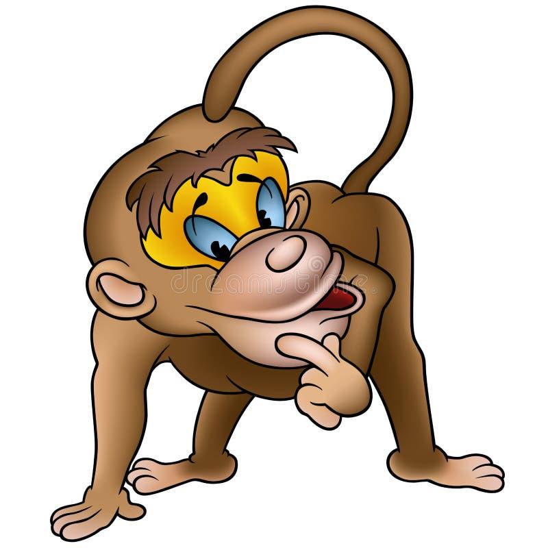 ухищренная обезьяна иллюстрация вектора