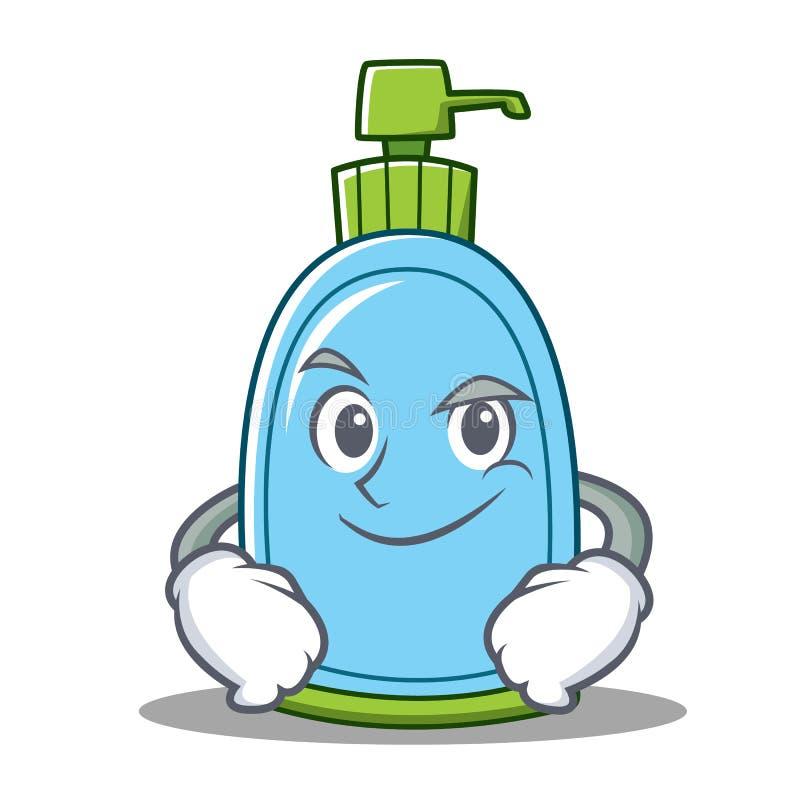 Ухмыляясь шарж характера жидкостного мыла бесплатная иллюстрация