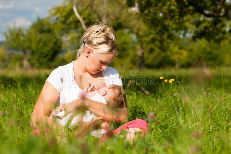 уход мати лужка младенца стоковые фото