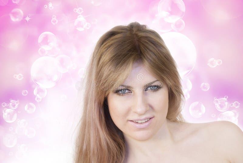 Уход за волосами для женщины стоковое фото rf
