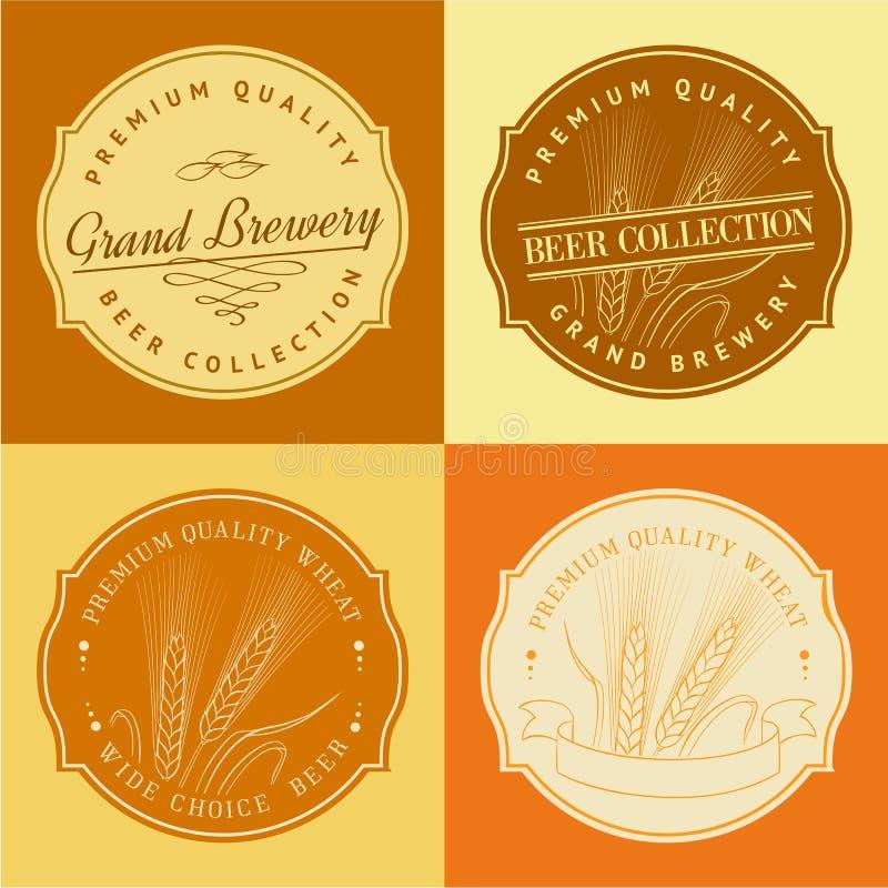 Ухо пшеницы в рамке для логотипа земледелия бесплатная иллюстрация
