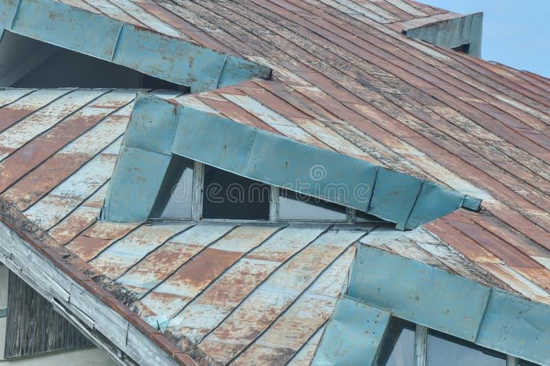 Ухудшенная деталь крыши стоковая фотография