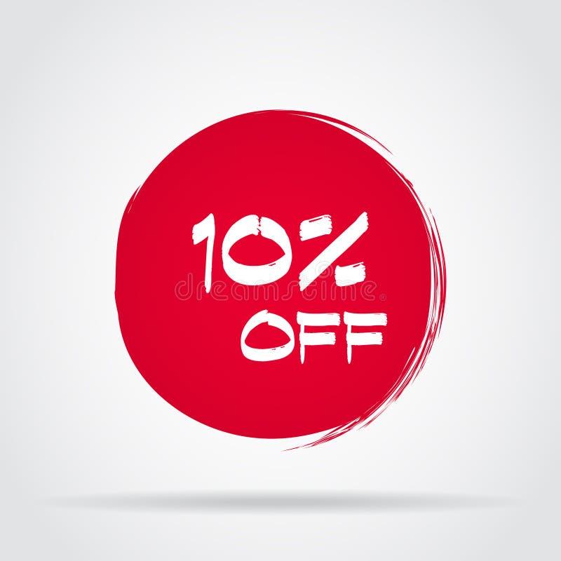 Уцените ярлык цены предложения, символ для рекламной кампании в рознице, маркетинге promo продажи бесплатная иллюстрация
