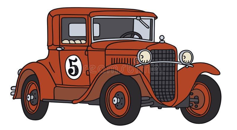 участвовать в гонке автомобиля старый иллюстрация вектора