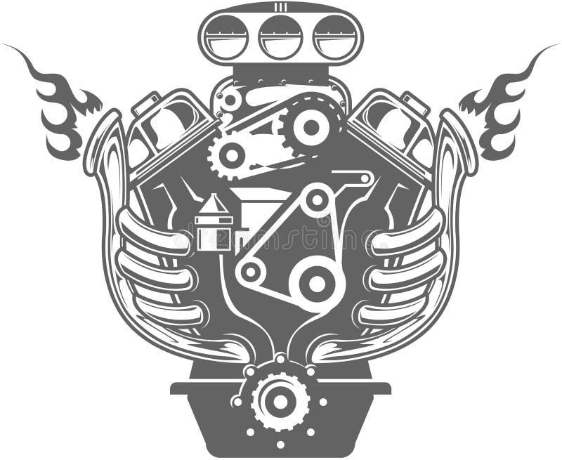 участвовать в гонке двигателя иллюстрация вектора
