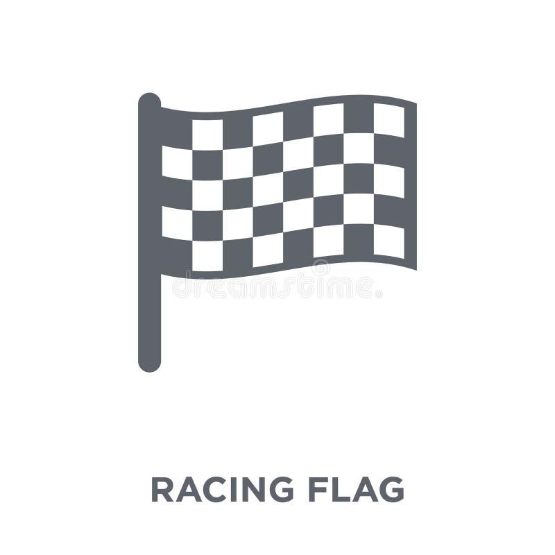 Участвовать в гонке значок флага от собрания урожайности иллюстрация вектора