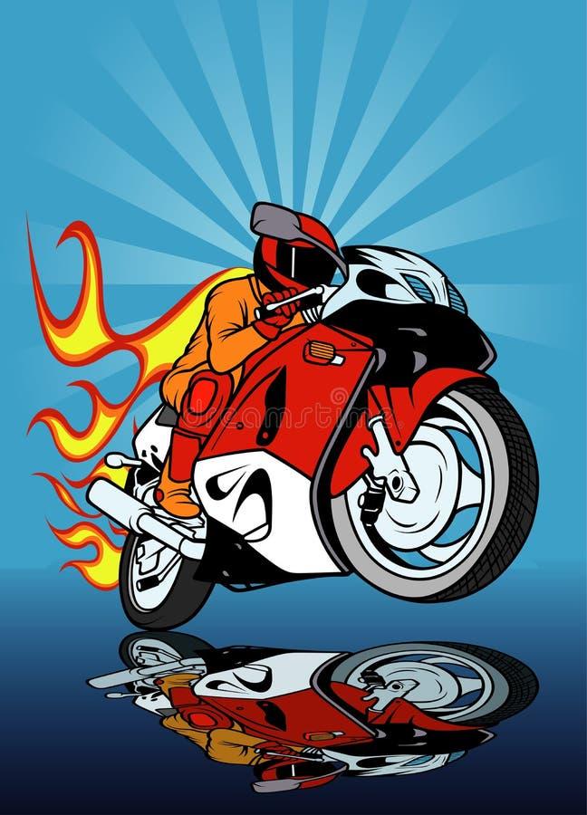 участвовать в гонке мотоцикла иллюстрация штока