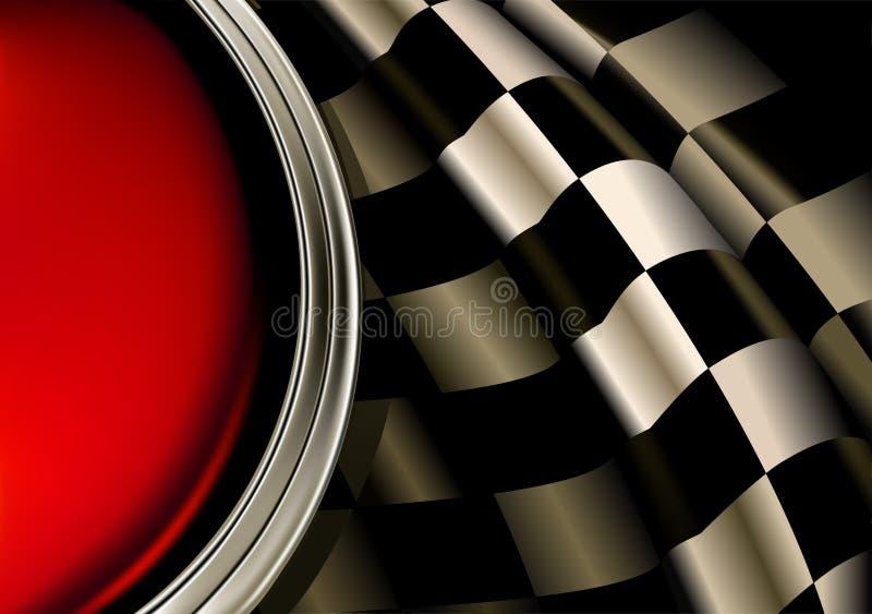 участвовать в гонке предпосылки иллюстрация вектора
