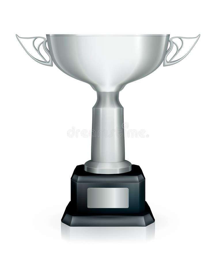 участвовать в гонке серебряный трофей бесплатная иллюстрация