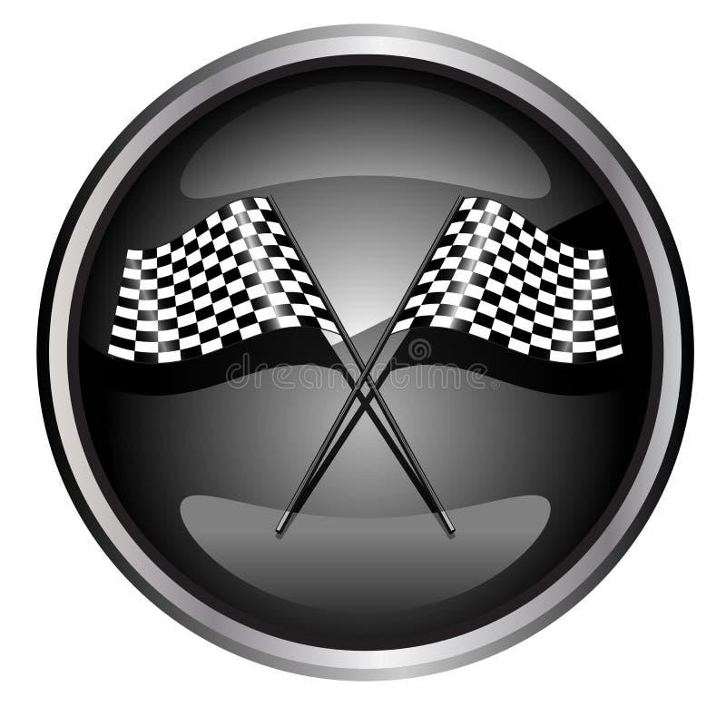 участвовать в гонке флага автомобиля иллюстрация вектора