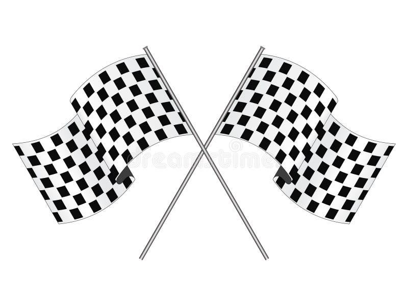 участвовать в гонке флага бесплатная иллюстрация