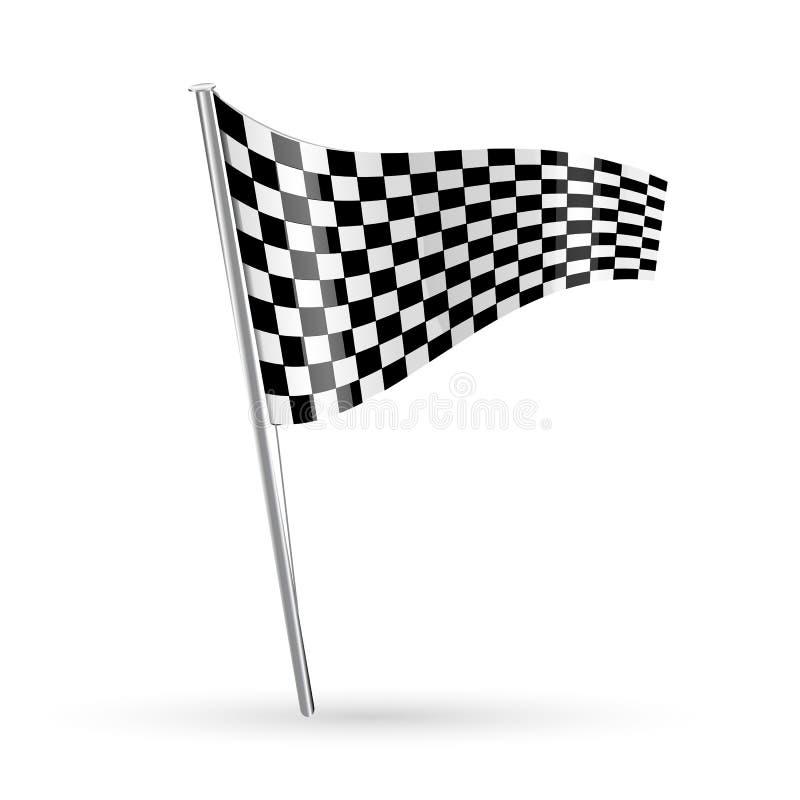 Download участвовать в гонке флага иллюстрация вектора. иллюстрации насчитывающей предмет - 18375654