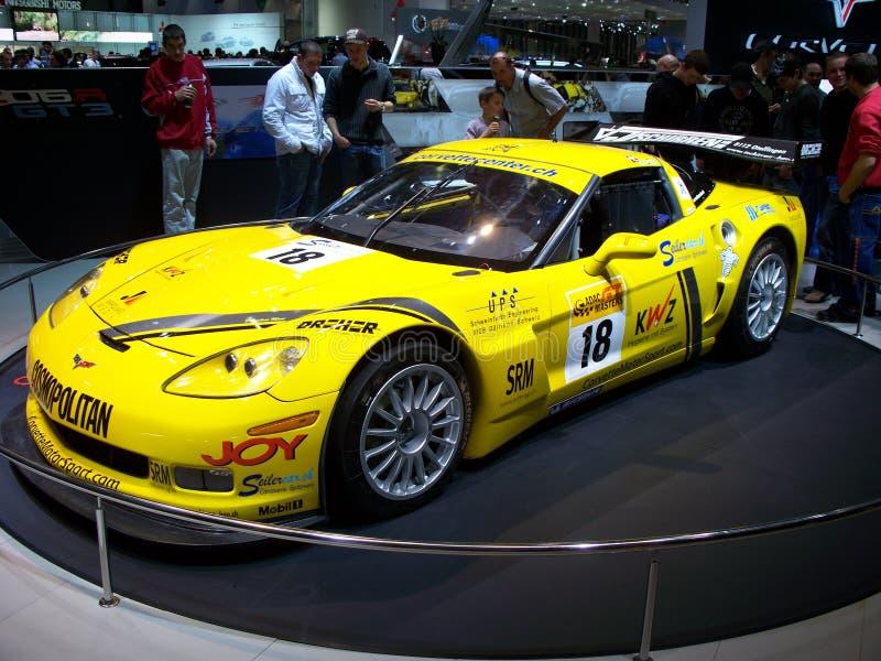 участвовать в гонке corvette стоковые изображения
