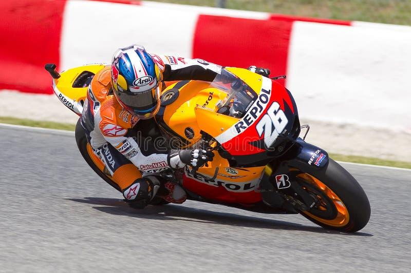 Участвовать в гонке GP Moto - Dani Pedrosa стоковое изображение