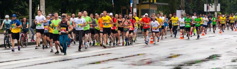 Участники марафона стоковое фото rf