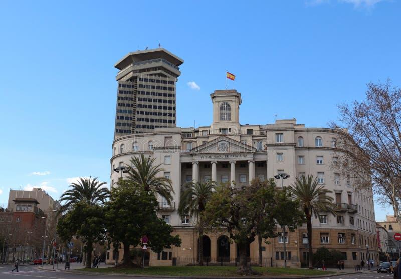 Участок Военноморск De Catalunya, Барселона, Испания стоковое изображение rf